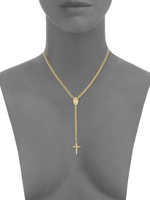 Saks Fifth Avenue 14K Yellow Gold Cross & Virgin Mary Pendant Necklace