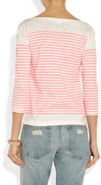 J.Crew Engineered striped cotton-jersey top