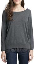 Joie Hilano Lace-Hem Sweater