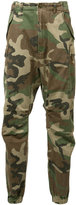 R 13 camouflage cropped trousers - men - Cotton - 29