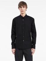 Calvin Klein Platinum Refined Poplin Snap Shirt