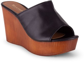 Wanted Slip-On Wedge Sandals - London