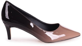 Linzi LUCINDA - Mocha & Black Ombre Classic Court Shoe With Low Heel