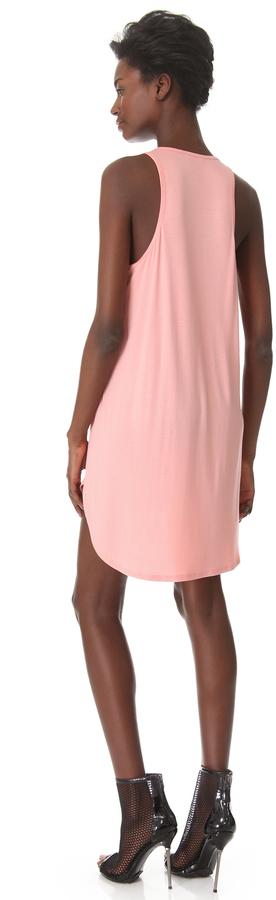 Michelle Mason Leather Front Tank Dress