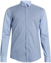 Lanvin Single-cuff contrast-check cotton shirt