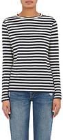Barneys New York Women's Striped Cotton Jersey Long-Sleeve T-Shirt-NAVY