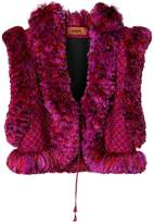 Missoni cropped embroidered gilet