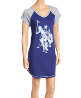 U.S. Polo Assn. Blue Depth Polo Cotton Horse Sleepshirt