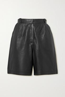 ENVELOPE1976 Net Sustain Leather Shorts - Black