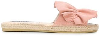 Sergio Rossi Ruffled Espadrille Sandals