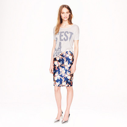 J.Crew Collection No 2. pencil skirt in antique floral