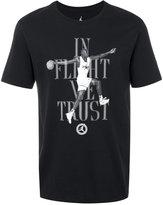 Nike Air Jordan 7 'In Flight We Trust' printed T-shirt
