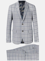 Etro checked formal suit