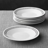 Crate & Barrel Set of 8 Leif Salad Plates