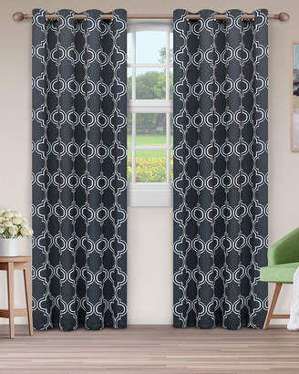 Florence & Strada Bohemian Trellis Blackout Curtain Panel Pair, 108""