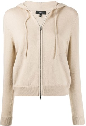 Theory hooded zip-front cardigan