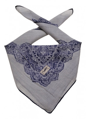 Saint Laurent Blue Silk Scarves & pocket squares