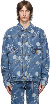 Mastermind Japan Blue Denim Monogram Water-Repellent Jacket