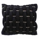 Vue Cersei Loop Square Throw Pillow in Black