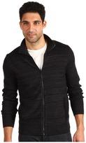 Calvin Klein Striped Full Zip (Black) - Apparel