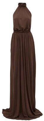 Matteau The Halter Jersey Maxi Dress - Brown