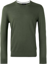 Joseph Suede patch knitted jumper