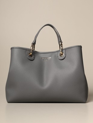 Emporio Armani Tote Bags Myea Bag In Grained Synthetic Leather