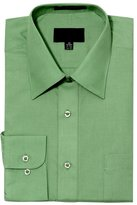 G-Style USA Men's Regular Fit Long Sleeve Solid Color Dress Shirts - 2X-Large - 34-35