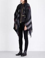 Burberry Collette check wool cape
