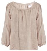 Velvet by Graham & Spencer Marcelle cotton-gauze top