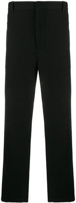 Ann Demeulemeester plain straight trousers