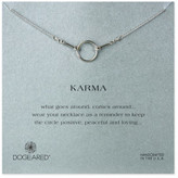 Dogeared Sterling Silver Original Karma Necklace