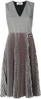 MSGM checked pleated dress