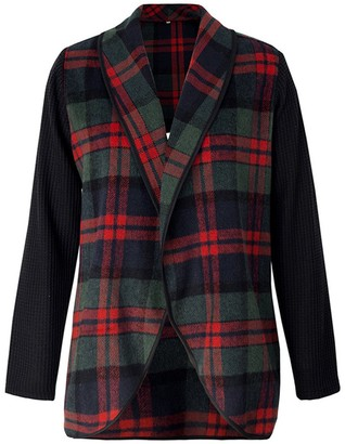 Goodnight Macaroon 'Alicia' Plaid Knitted Jacket (2 Colors)