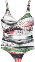 Lygia & Nanny open back printed swimsuit
