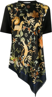 Lanvin printed silk T-shirt