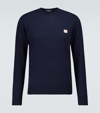 Acne Studios Kalon face crewneck sweater