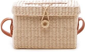 Sole Society Ellyn Straw Box Crossbody Bag