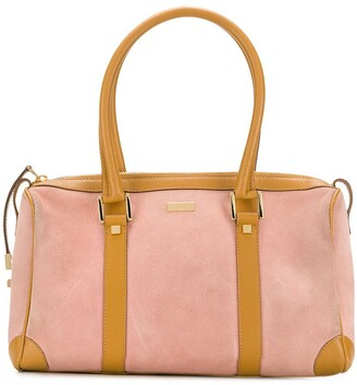 Gucci Pre Owned Two-Tone Duffle Bag