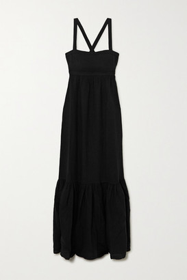 HONORINE Athena Tiered Maxi Dress - Black