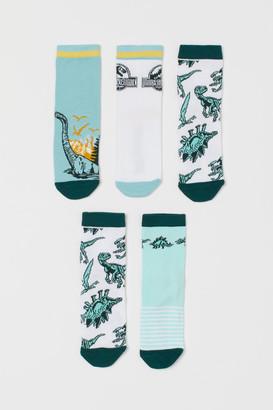 H&M 5-pack Patterned Socks - Green