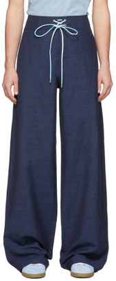 Lanvin Blue Large Hem Trousers
