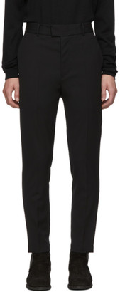 Isabel Benenato Black Satin Stripe Trousers