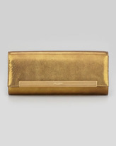 Saint Laurent Lutetia Flap Clutch Bag, Gold