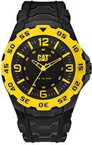 Caterpillar CAT WATCHES Men's 'Motion' Quartz Plastic and Rubber Watch, Color:Black (Model: LB17121137)