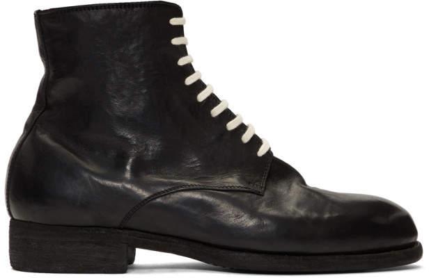 Guidi ブラック ホース ビンテージ Ball ブーツ