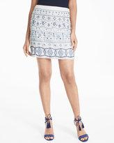 White House Black Market Embellished Skirt