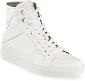 Zadig & Voltaire High Flash Leather High-Top Sneakers