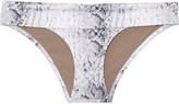 Heidi Klein Namibia snake-print bikini briefs