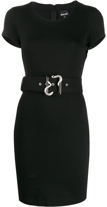 Just Cavalli belted bodycon mini dress
